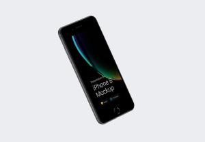 超级主流桌面&移动设备样机系列:iPhone 8 苹果智能手机样机 [兼容PS,Sketch;共3.72GB]插图11
