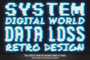 毛刺字体特效设计PSD模板 Photoshop Glitch Text Effects插图11