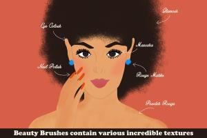 插画师必备的复古时尚美容Procreate笔刷 Beauty Brushes for Procreate插图(2)
