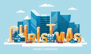 圣诞节&2020新年快乐主题矢量场景插画素材 Merry Christmas and and Happy New Year cards插图(4)
