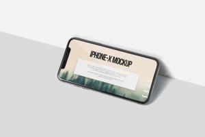 iPhone X智能手机多角度屏幕预览样机模板 iPhone X Mockup插图3