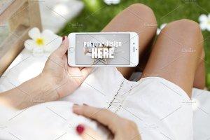 生育育儿主题孕妇手持iPhone样机模板 iPhone Pregnat Mockups插图6