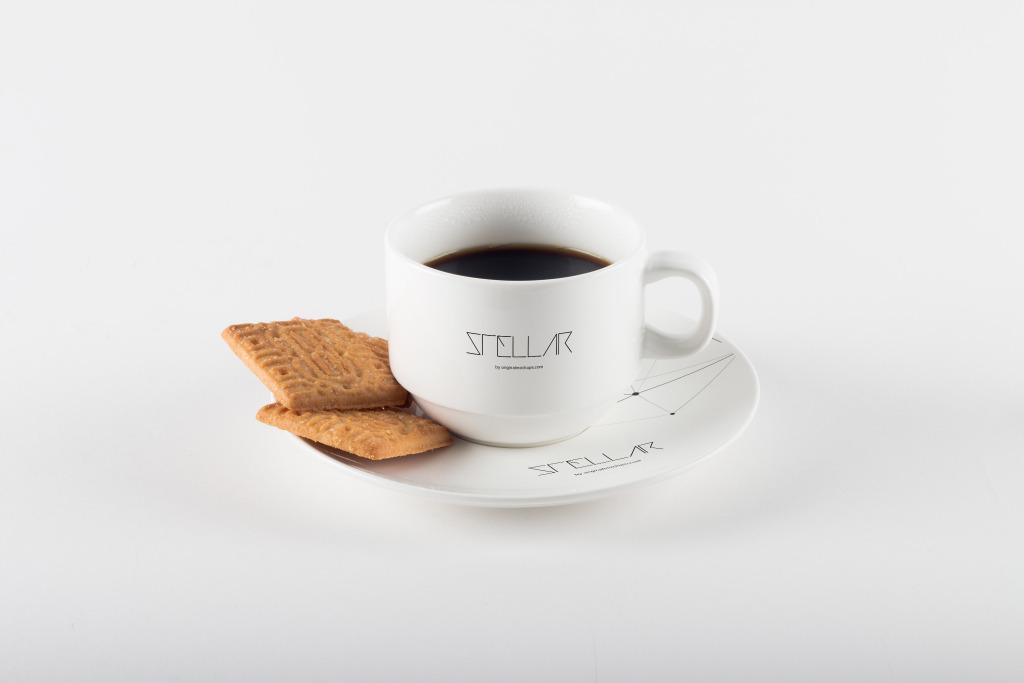 咖啡杯品牌Logo设计图演示样机模板03 Coffee Cup with Cookies Mockup 03插图