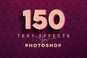 一流设计素材网下午茶:150款3D文字效果的PS图层样式 150 3D Text Effects for Photoshop–2.61 GB插图2