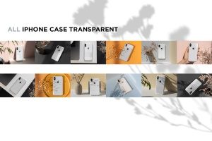 iPhone手机透明保护壳外观设计样机模板 iPhone Clear Case Mock-Up's插图4
