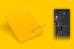 "iPad Pro平板电脑Web页面设计效果图样机 Clay iPad Pro 12,9"" Mockup插图5"