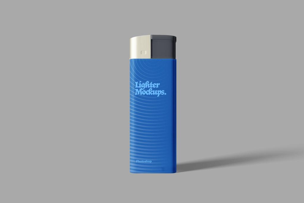 打火机外观设计效果图样机PSD模板 Lighter PSD Mockup插图
