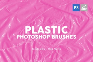塑料材料纹理PS图案印章笔刷03 Plastic Photoshop Brushes | 03插图1