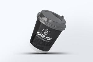 咖啡纸杯外观设计效果图样机模板 Coffee Cup Mock-Up V.2插图6