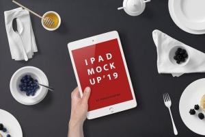 西式早餐场景iPad Mini设备展示样机 iPad Mini Mockup – Breakfast Set插图4