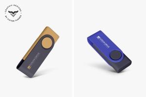 创意便携U盘产品外观设计效果图样机 USB Pendrive Mockups插图2