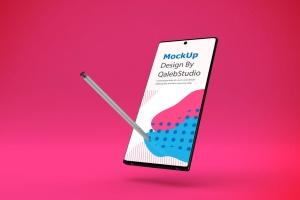 三星大屏手机Note 10屏幕预览样机模板 Note 10 Mockup插图6