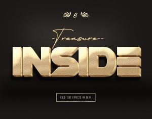 3D金色金属文本文字特效PSD分层模板 3D Gold Text Effects – 10 PSD插图8