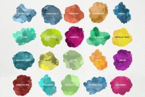 精美水彩插画设计素材包 for AI Watercolor KIT for Illustrator插图6