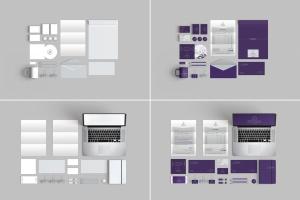 10个时尚高端办公品牌文具样机VI展示模型mockups插图5
