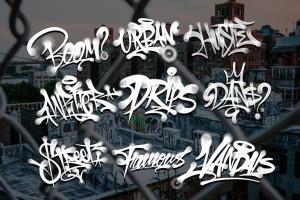 欧美街头涂鸦艺术PS笔刷下载插图5