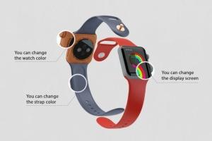 Apple智能手表APP设计展示设备样机V.3 Apple Watch Mockup V.3插图8