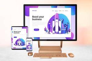 跨平台设计项目展示样机合集 Responsive Screens Mockup插图6