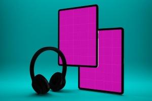 音乐APP界面设计效果图iPad Pro平板电脑样机模板 iPad Pro Music App插图12