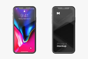 iPhone X智能手机UI设计屏幕演示样机免费素材 Free iPhone X Mockup 01插图1