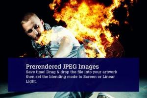 80款逼真火焰图形PS笔刷 80 Photorealistic Fire Explosions插图4