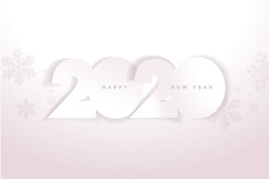 圣诞节庆祝暨迎接2020年主题矢量插画设计素材v5 Happy New Year 2020插图1