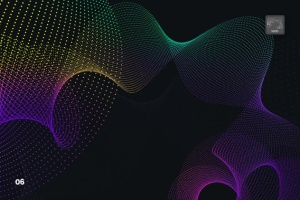 抽象虚线波浪漩涡图案Photoshop笔刷 Dotted Wavy Swirls Photoshop Brushes插图7