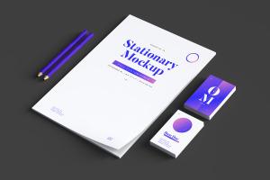 品牌VI设计案例预览办公用品套装样机03 Stationery Mockup 03插图3