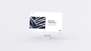 网站UI界面设计效果图预览白色iMac电脑样机模板 White iMac Mockup插图3