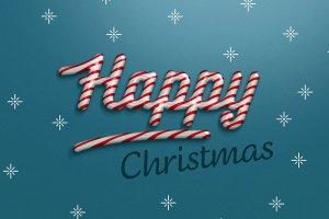 圣诞节日气氛创意海报字体PS图层样式 Christmas text effect插图3