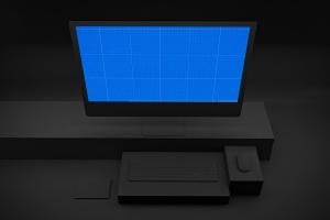 暗黑背景iMac Pro苹果一体机电脑样机模板 Dark iMac Pro插图9