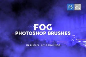 100个烟雾水雾效果PS印章画笔笔刷 100 Fog Photoshop Stamp Brushes插图(1)