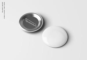 别针徽章胸章定做设计样机模板 Pin Button Badge Mockup插图8