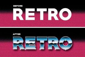 80年代复古文本图层样式 80's Retro Graphic Styles插图5
