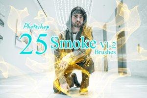 15种抽象逼真的烟雾Photoshop笔刷插图1