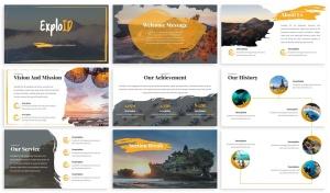 旅游公司&旅行社服务介绍Keynote幻灯片模板 Exploid – Travel Keynote Template插图2