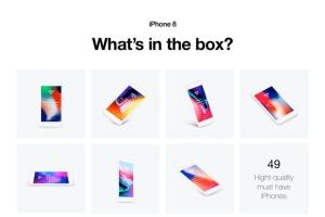 APP UI设计展示iPhone 8样机模板 HERO Phone 8 Mockups插图7