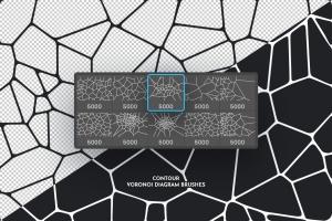 Voronoi不规则多边形几何图案PS笔刷 Voronoi Diagram Photoshop Brushes插图5
