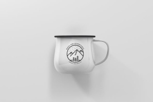 高分辨率圆形珐琅杯子样机 Round Enamel Mug Mockup插图11