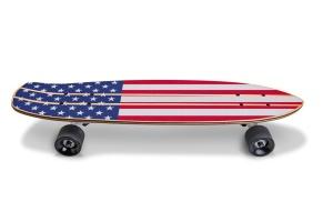 滑板顶部设计正面预览图样机02 Skate_Board-02_Mockup插图7