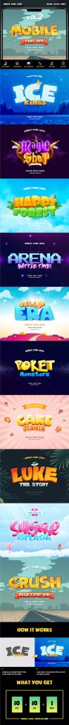 3D立体卡通游戏专用效果PS字体样式vol.2插图