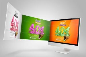 Web设计桌面电脑屏幕演示样机模板 Desktop Mock-Up插图6