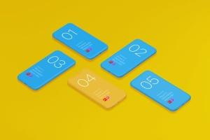 极简主义iPhone X样机模板 Phone X Minimalistic Mock-Ups插图11