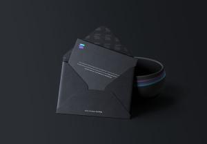 企业信封开启状态设计预览样机模板 Envelope with Bowl Mockup插图2