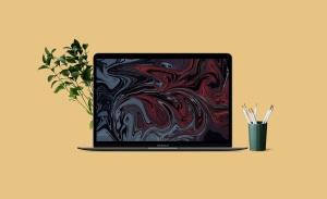 苹果笔记本工作场景屏幕预览样机模板v2 Laptop Mockups vol02插图2