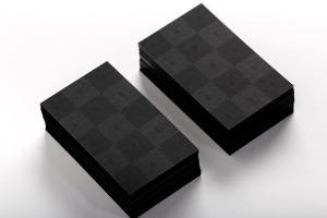 黑色企业&工作室名片设计效果图样机模板01 Black Business Cards Mockup 01插图2