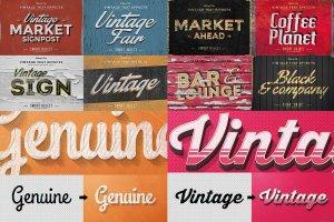 50款经典复古文本文字效果图层 50 Vintage Text Effects Bundle插图5