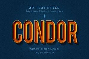 创意3D文本图层样式 Amazing 3D Text Styles插图11