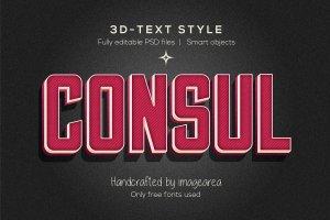 创意3D文本图层样式 Amazing 3D Text Styles插图5