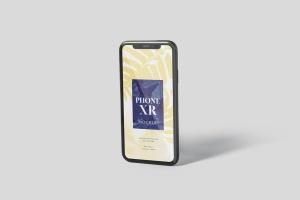 iPhone XR智能手机多角度屏幕预览样机模板 Phone XR Mockup插图5